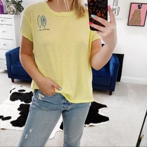 Free people we the free neon catch waves t shirt
